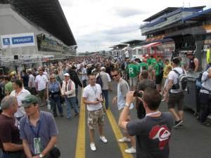 Pit lane walkabout at Le Mans