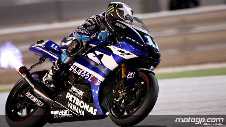 Why isn't the exhaust aimed at the tire? : motogp