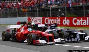 Fernando-Alonso-Pastor-Maldonado-Kimi-Raikkonen-Barcelona-race-start-2012