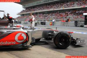 Jenson-Button-leaving-pits-Barcelona-2012