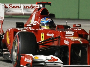 Fernando Alonso Singapore qualifying 2012