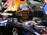 Sebastian Vettel garage Singapore Race 2012
