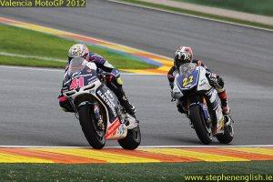 Aleix Espargaro Katsuyuki Nakasuga Valencia MotoGP Race 2012