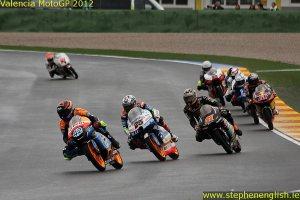 Alex Rins Maverick Vinales Niklas Ajo Arthur Sissis Valencia Moto3 Race 2012