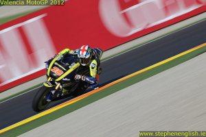 Bradley Smith blurred Valencia Moto2 Qualifying 2012