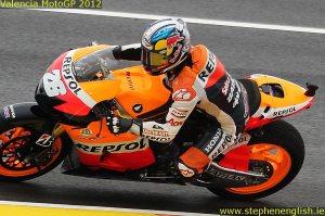 Dani Pedrosa Valencia MotoGP Race 2012