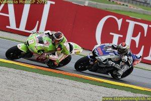 Hector Barbera Jorge Lorenzo Valencia MotoGP Race 2012