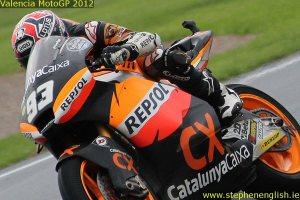 Marc Marquez closeup Valencia MotoGP Race 2012