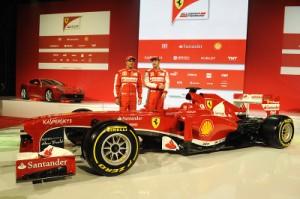 Fernando Alonso Felipe Massa Ferrari F318 launch