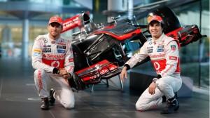 Jenson Button Sergio Perez McLaren launch 2013