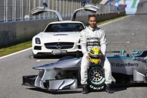 Lewis Hamilton Mercedes launch 2013