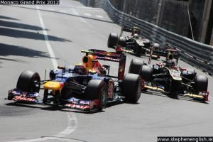 Mark-Webber-Kimi-Raikkonen-Romain-Grosjean-Mirabeau-entry-Monaco-Qualifying-2012