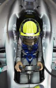 Nico Rosberg cockpit 2013