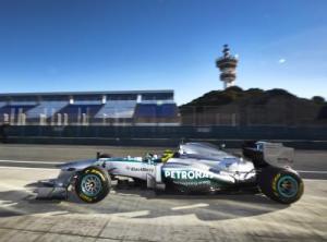 Nico Rosberg Mercedes shakedown