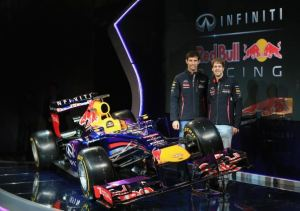 Sebastian Vettel Mark Webber Red Bull RB9 launch