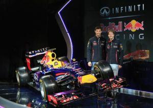 Sebastian Vettel Mark Webber Red Bull RB9 launch