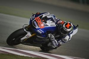 Jorge Lorenzo conering Qatar MotoGP Race 2013