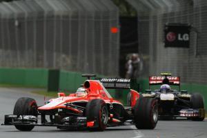 Jules Bianchi Daniel Ricciardo Australia Race 2013