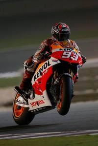Marc Marquez wheelie Qatar MotoGP Qualifying 2013