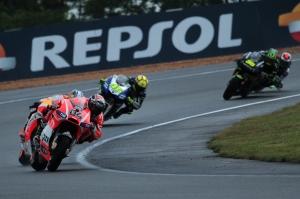 Andrea Dovizioso Dani Pedrosa Valentino Rossi Le Mans MotoGP Race 2013