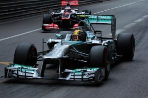 Lewis Hamilton Jenson Button Monaco FP3 2013