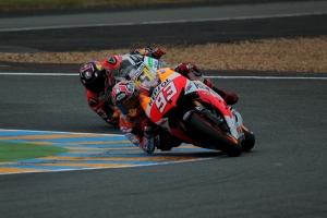 Marc Marquez Stefan Bradl Le Mans MotoGP Qualifying 2013
