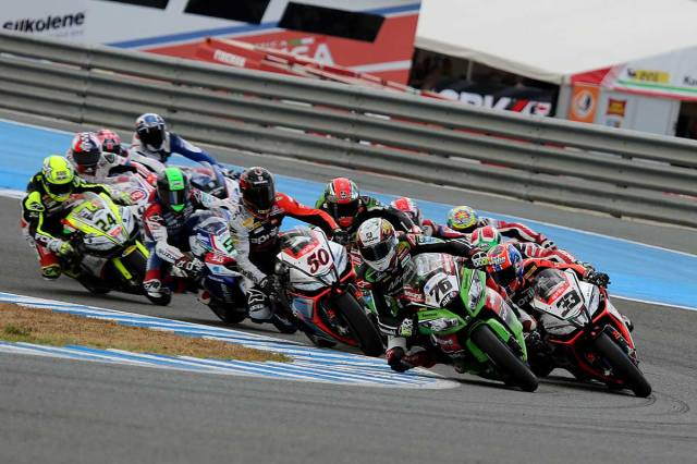 race start jerez wsbk sunday 2014